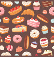 sweet pastry seamless pattern vector image