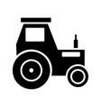 tractor glyph black icon vector image vector image