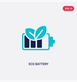 two color eco battery icon from general-1 concept vector image
