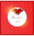 White invitation on red background vector image vector image
