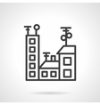 Black line city icon vector image
