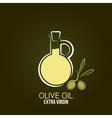 olive oil design background vector image