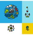 Environment ecology green planet concept vector image