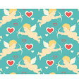 Seamless Festive Love Pattern with Cupid and vector image