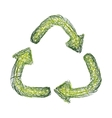 abstract arrows of recycling symbol vector image vector image