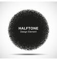 Abstract Halftone Dots Circle