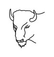 animal bison icon design clip art line icon vector image vector image