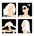 avatars fashionable girls vector image vector image