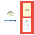 basket creative logo and business card vertical vector image vector image