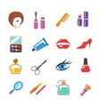beauty and make up colored icons vector image vector image
