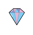 beauty diamond fashion accessory design vector image vector image