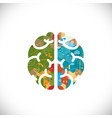 brain symbol with colorful geometric and graphic vector image