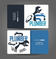 business card repair plumbing concept vector image vector image