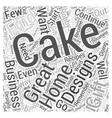 cake designs Word Cloud Concept vector image vector image