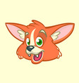 Cartoon fox head