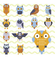 cartoon owl bird cute character symbol sleep sweet vector image vector image