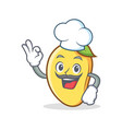 chef mango character cartoon mascot vector image vector image