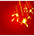 chinese cracker background vector image
