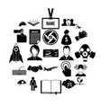 clerk icons set simple style vector image