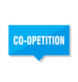 co-opetition price tag vector image vector image