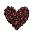 Coffee beans heart over a white background vector image vector image