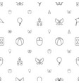 colorful icons pattern seamless white background vector image vector image