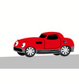 comic image a harsh darck red sportcar vector image