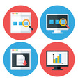 Computer Browser Technology Flat Circle Icons Set vector image vector image