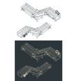 conveyor isometric drawings vector image