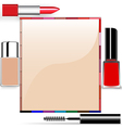 Cosmetics Border Frame vector image vector image