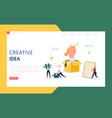 creative idea business technology landing page vector image vector image