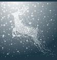 deer of snowflakes christmas vector image vector image