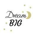 dream big vector image vector image