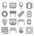 electronic components icons set on white vector image