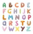 English funny cartoon alphabet vector image