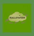 flat shading style icon cloud bats vector image