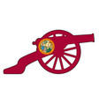 floridai flag icon with civil war cannon vector image vector image
