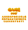 font for the name of the game vector image vector image