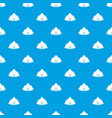forage cap pattern seamless blue vector image vector image
