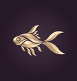 goldfish logo icon vector image vector image