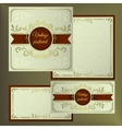 Greeting and invitation cards Cover with vintage vector image vector image