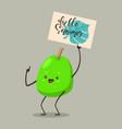 guava cartoon character vector image vector image