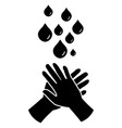 hand washing icon black pictograph eps vector image