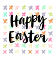Happy easter cards with font vector image