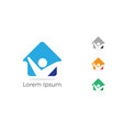 happy home icon help poor unity logo vector image