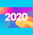 happy new year color banner 2020 bright gradients vector image vector image