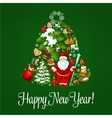 Happy New Year poster greeting card vector image vector image