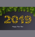 holiday new year 2019 gift card vector image vector image