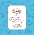 its a baby boy frame with dog vector image