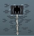 jail break pop art vector image vector image